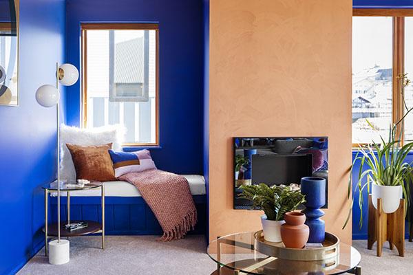 West Elm lounge room Sambuca apartments luxury accommodation mt hotham