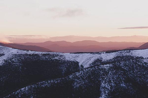 Mt Hotham sunset layers