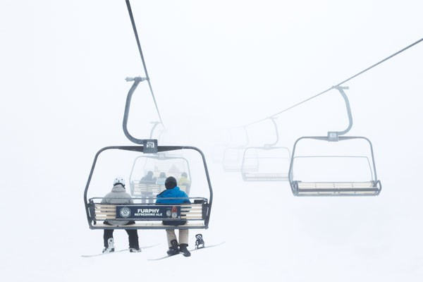 Hotham Chairlift Storm