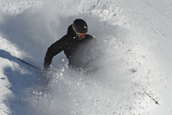 Hotham Skiier Powder Bluebird