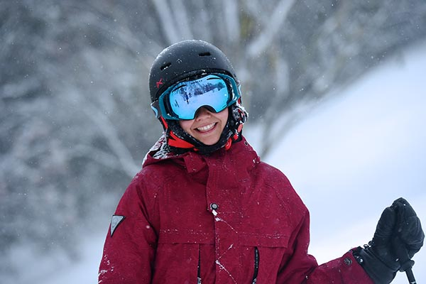 All smiles on a pow day