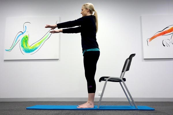 Chair raise exercise