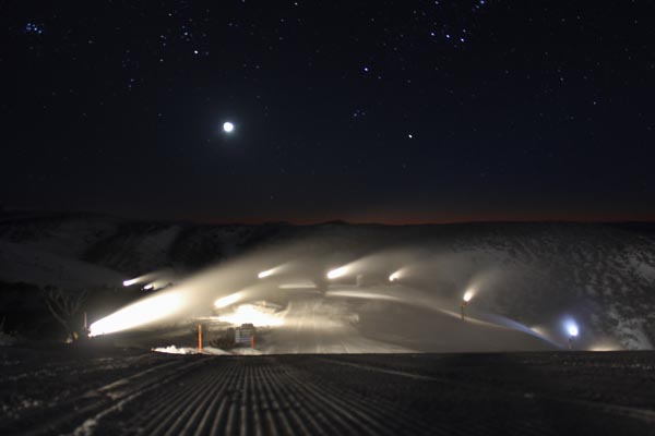snowmaking top of Heavenly Valley