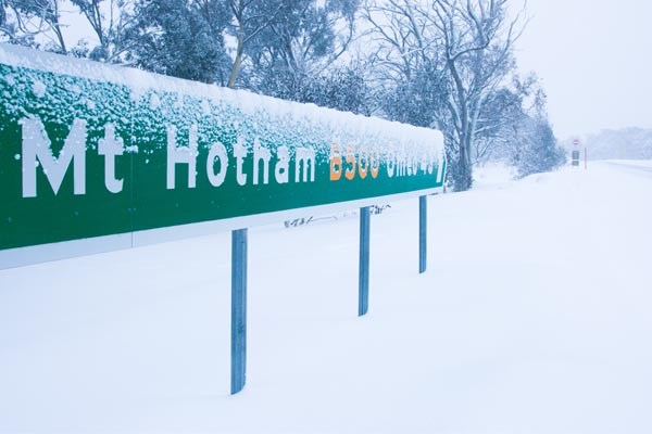 Mt Hotham sign