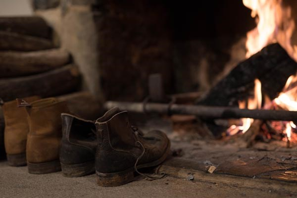 Boots fireplace