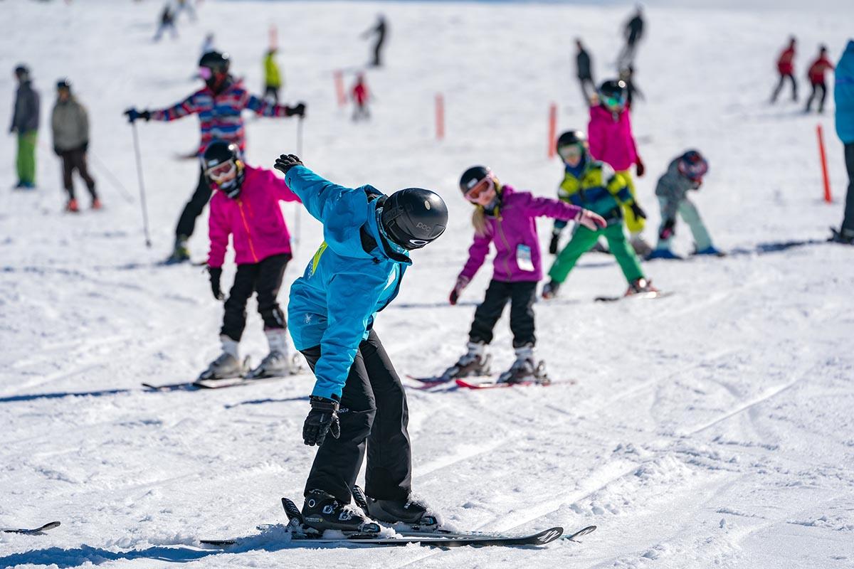 Kids Learn to Ski and Snowboard